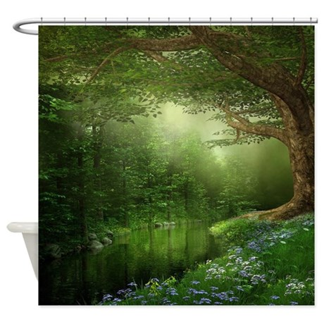 Summer Forest River Shower Curtain By ShowerCurtainShop