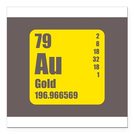 Gold periodic table square periodic diagrams science gold periodic table square element 079 au urtaz Gallery
