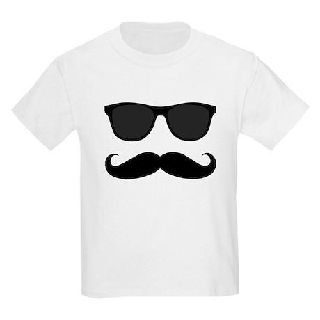 Mustache Black And White Shirt