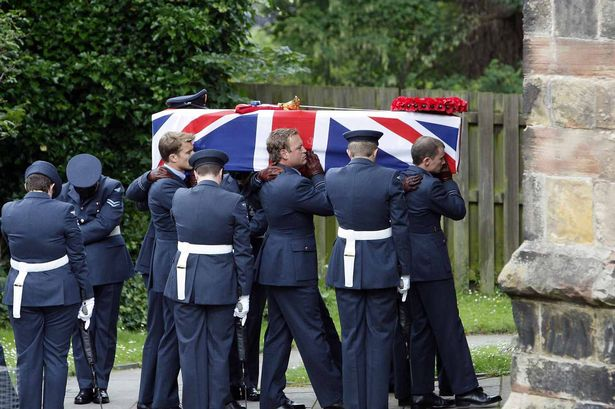 The funeral of Hywel Poole