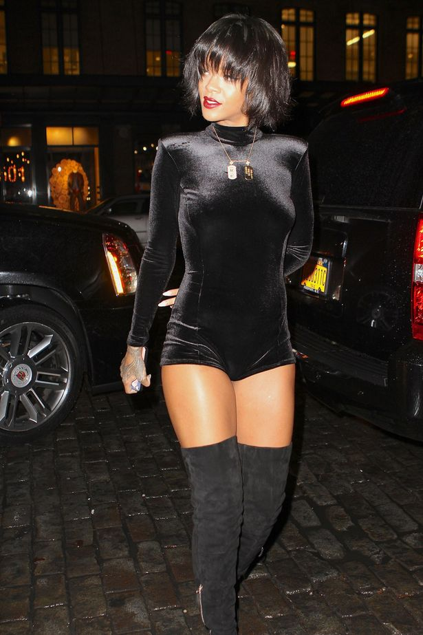 Rihanna Pours It Up In A Bum Skimming Clinging Crushed