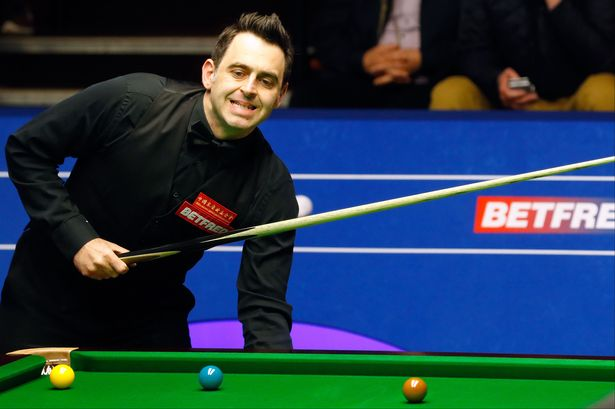 Ronnie O'Sullivan during this year's World Championships at the Crucible in Sheffield