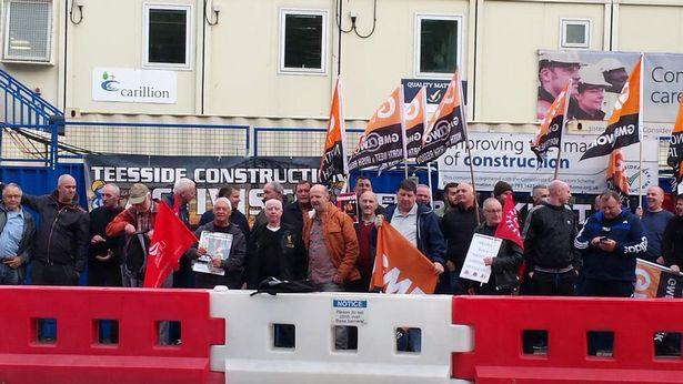 Blacklisting protest at Royal Liverpool Hospital