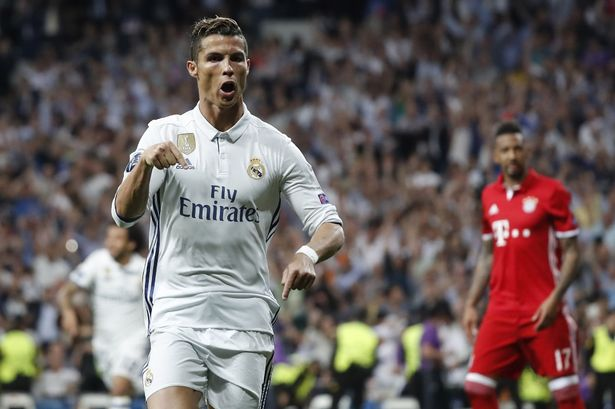 Image result for Cristiano Ronaldo 4-2 Bayern Munich