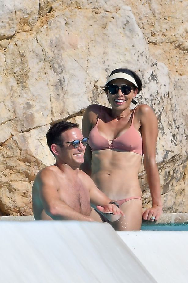 Hottest Christine Bleakley shows off incredible figure in pink bikini with Frank Lampard on holiday