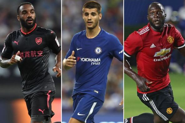 Image result for Romelu Lukaku, Alexandre Lacazette, and Alvaro Morata