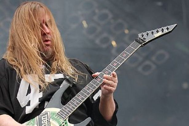 Shock: Jeff Hanneman of Slayer has died aged just 49