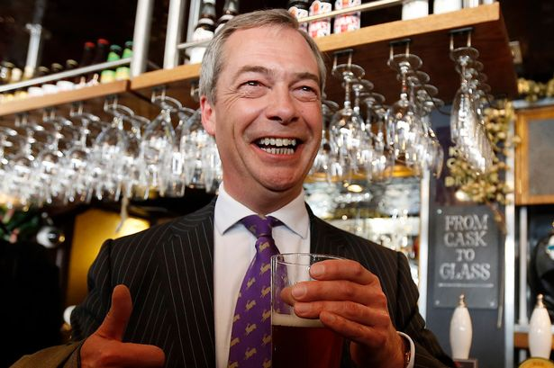 Blow: Nigel Farage