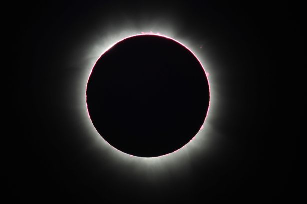 Rare 'hybrid' Solar Eclipse viewed from Pakwach, Uganda