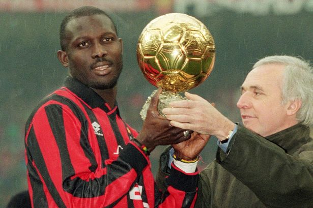 George Weah of AC Milan