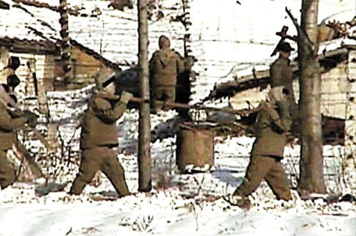 A Screengrab of North Korean Concentration Camp taken from Rare Footage, which can be found at the end of this article