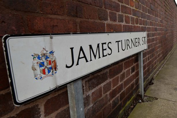 Gv and signage of James Turner Street