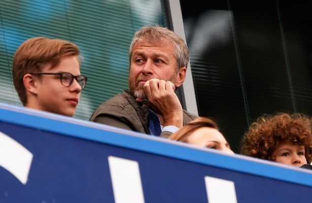 Chelsea owner Roman Abramovich looks on from the stands prior to the Barclays Premier League match between Chelsea and Crystal Palace at Stamford Bridge.