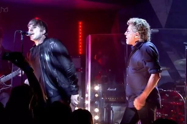 Liam Gallagher and Roger Daltrey sing 'My Generation'