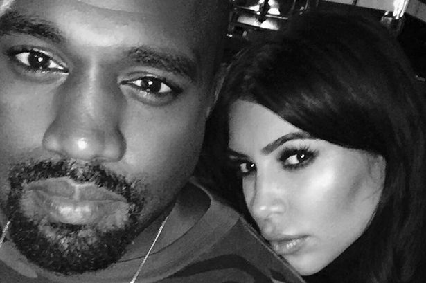 Kim Kardashian and Kanye West on instagram