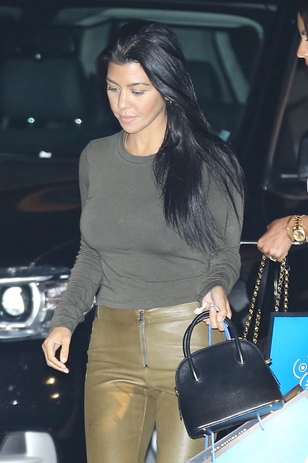 Kourtney Kardashian visits with friends after a Westime private event at Nobu in Malibu