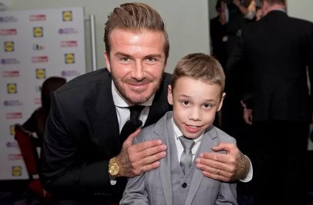 Bailey Matthews and David Beckham