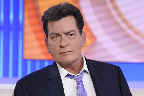 """Charlie Sheen sits on the set of the NBC """"Today"""" show"""