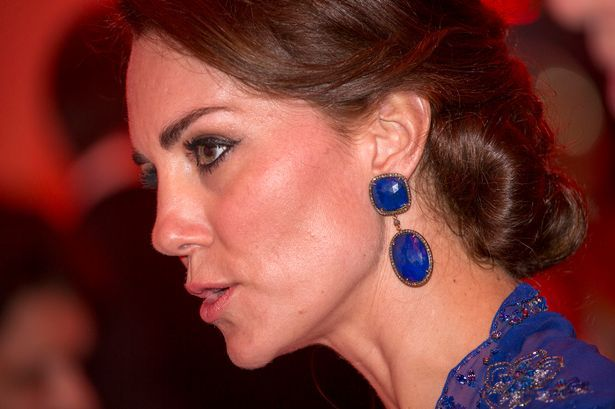 Kate wore larger earrings than usual as she attended the Bollywood gala