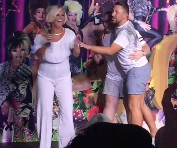 Kerry Katona at Gran Canaria gay pride