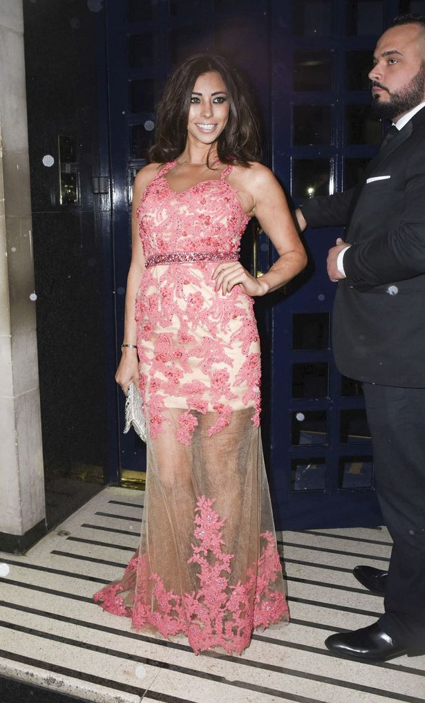 Pascal-Craymer Pascal Craymer left topless after her dress breaks on way to Lizzie Cundy's birthday
