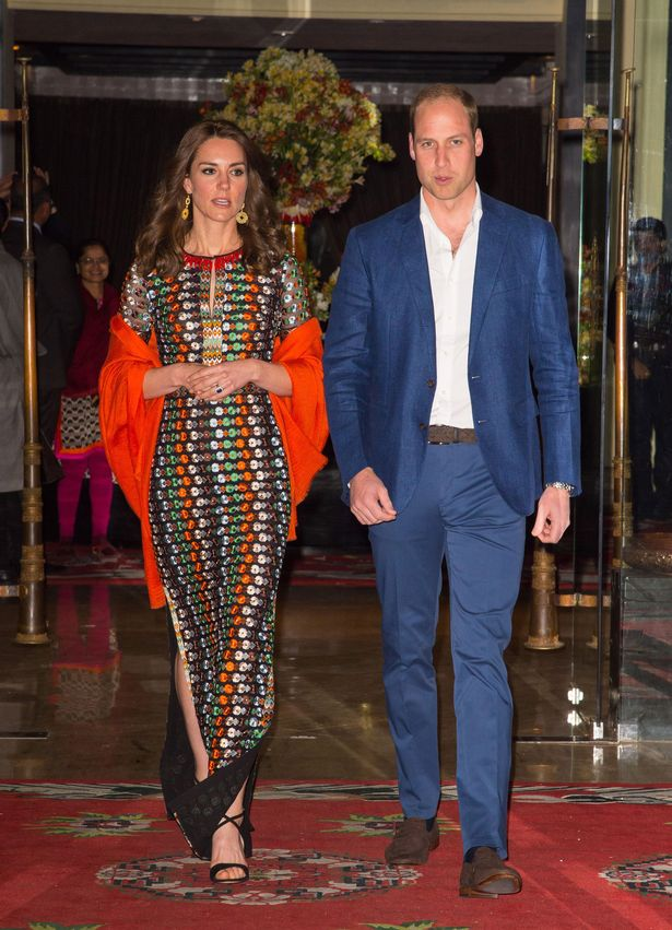 Prince William and Kate Middleton leave their hotel for dinner with the Dragon King and Queen