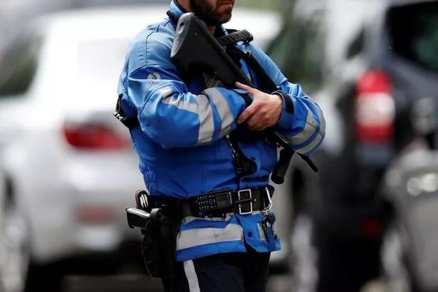 Un agente de la policía belga