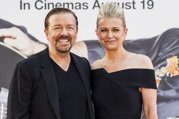 Ricky Gervais with partner Jane