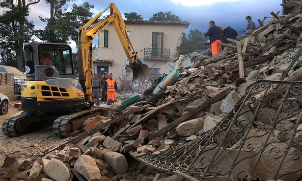 Image result for images of earthquake in Italy
