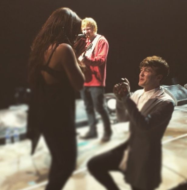 JAKE ROCHE POPPING THE QUESTION TO JESY NELSON
