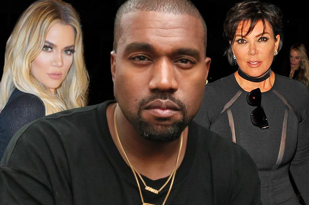 Kanye, Chloe Kardashian and Kris Jenner