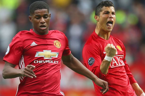 Image result for Manchester United Marcus Rashford wants to emulate Cristiano Ronaldo