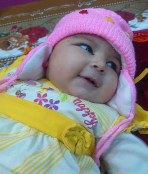 6-week-old baby Areej Ali