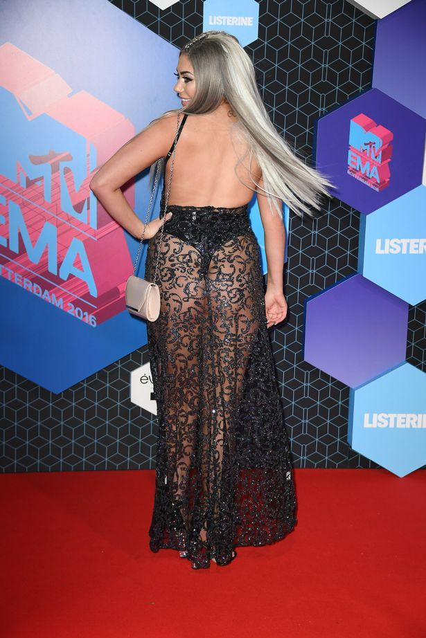 Chloe Ferry attend the MTV Europe Music Awards 2016