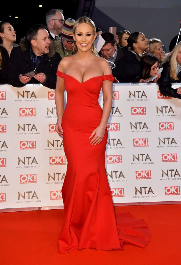 Kate Wright attending the National Television Awards 2017