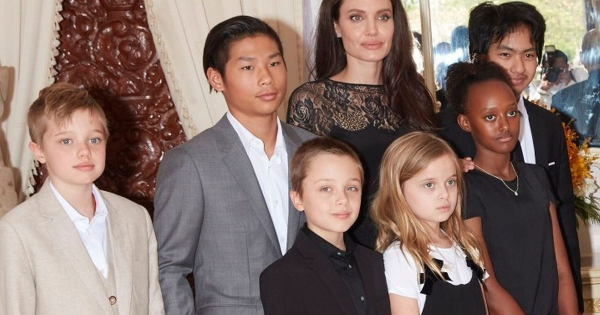 Image result for angelina jolie and her kids 2017