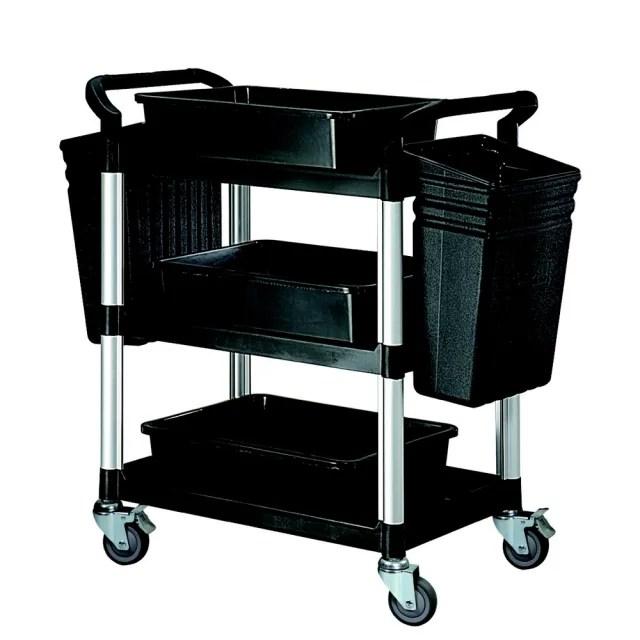 【COLOR】精緻標準型3層工具/餐推車(全配件/高級儀器輪)