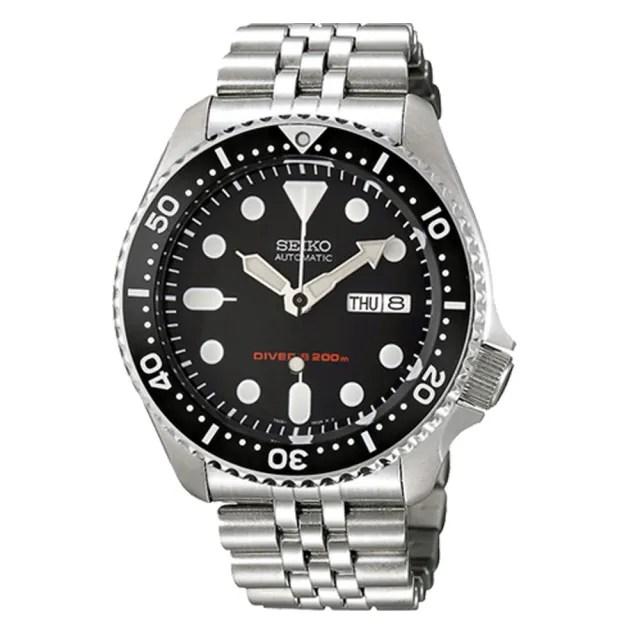 【SEIKO 精工】海馬 DIVERS 機械錶 日期 星期 男錶 潛水錶(SKX007K2)