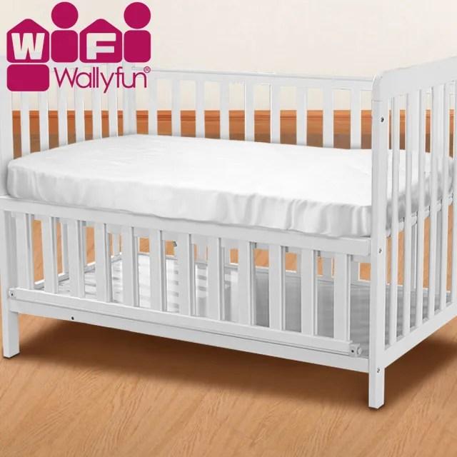 【WallyFun】嬰兒床用保潔墊-全包款 120X60CM(★台灣製造 採用遠東紡織聚酯棉★)