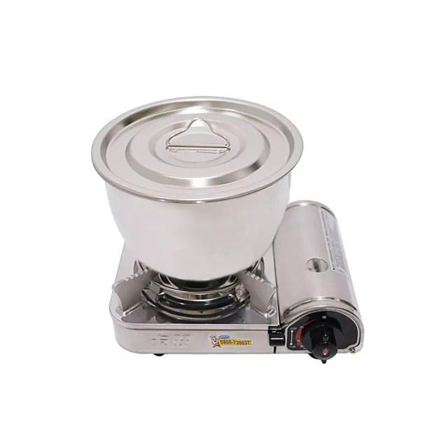 【卡旺】MINI攜帶式卡式爐鍋具組(K1-B003SD+CI-2.1B)