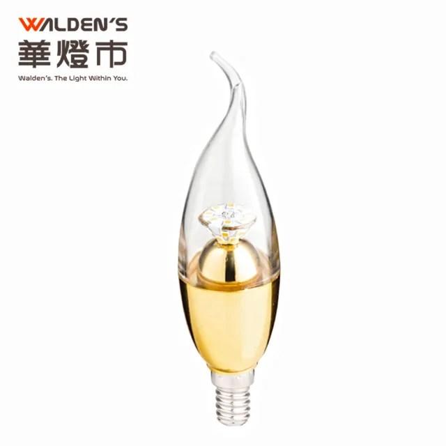 【華燈市】LED 7W可調光拉尾蠟燭燈泡-黃光(燈飾燈具/蠟燭燈泡/水晶燈/小夜燈/神明燈泡)