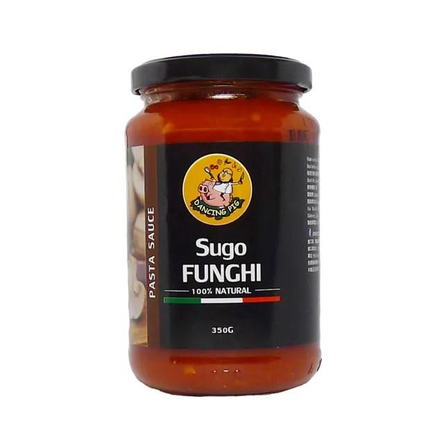 【豬跳舞】番茄磨菇麵醬 義大利麵醬  350g X12罐(義式紅醬/義式番茄醬/蘑菇醬)