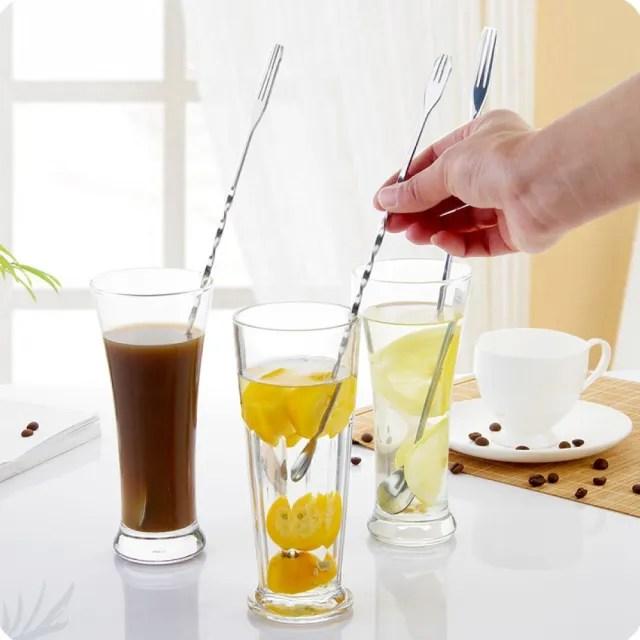 【調製飲品】長柄攪拌勺2入組(平匙/飲料/調酒/咖啡攪拌/冰品/ 甜品/冰沙匙/)