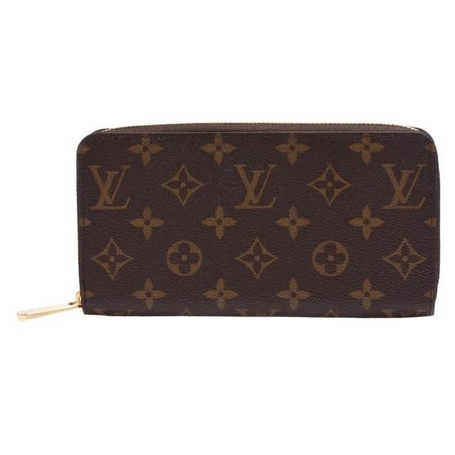 【Louis Vuitton 路易威登】M41894 經典Monogram花紋拉鍊長夾(玫瑰粉)