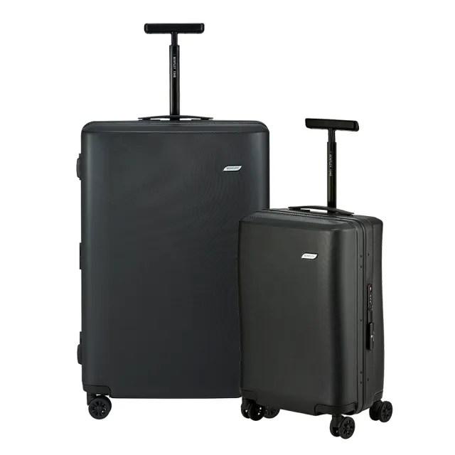 【Bentley 賓利】PC+ABS 鋁合金拉桿尊榮硬殼行李箱(二件組-28吋+20吋)