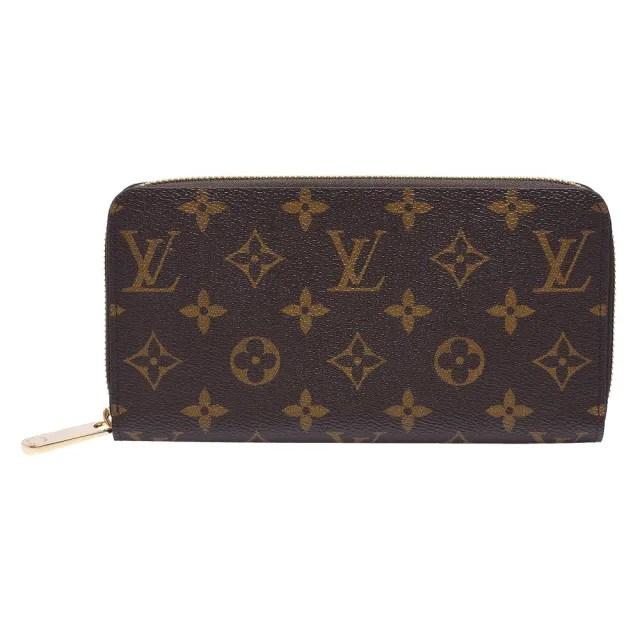 【Louis Vuitton 路易威登】M41895 經典Monogram花紋拉鍊長夾(紫紅色)