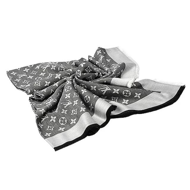 【Louis Vuitton 路易威登】M71378 Monogram DENIM 披巾(鐵灰)
