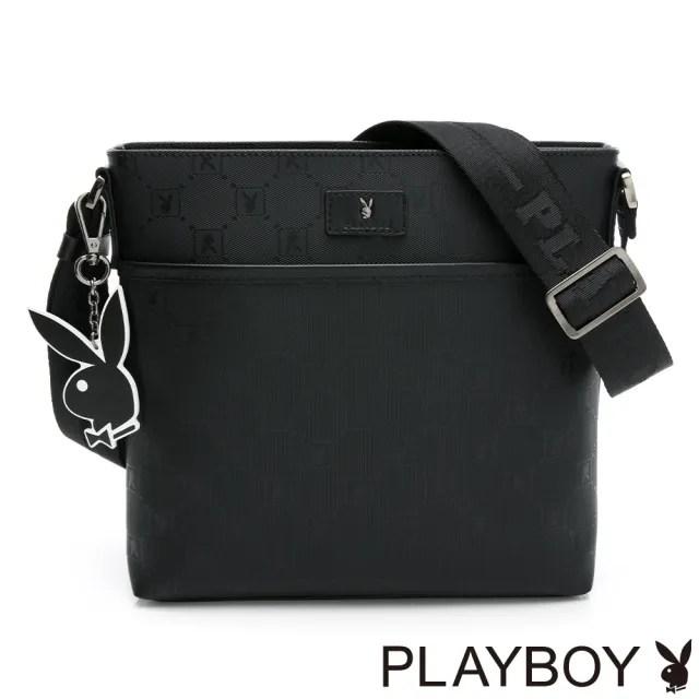【PLAYBOY】下沉式斜背包 Master系列(黑色)