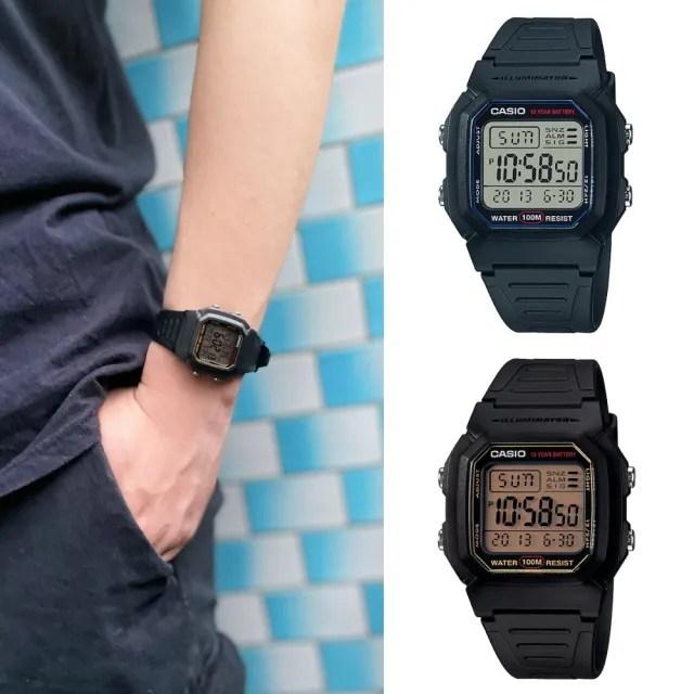 【CASIO 卡西歐】多元STANDARD兒童電子錶系列(W-800H)