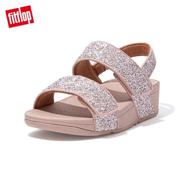 【FitFlop】MINA GLITTER MIX BACK-STRAP SANDALS 寬帶可調整式後帶涼鞋-女(珊瑚粉)